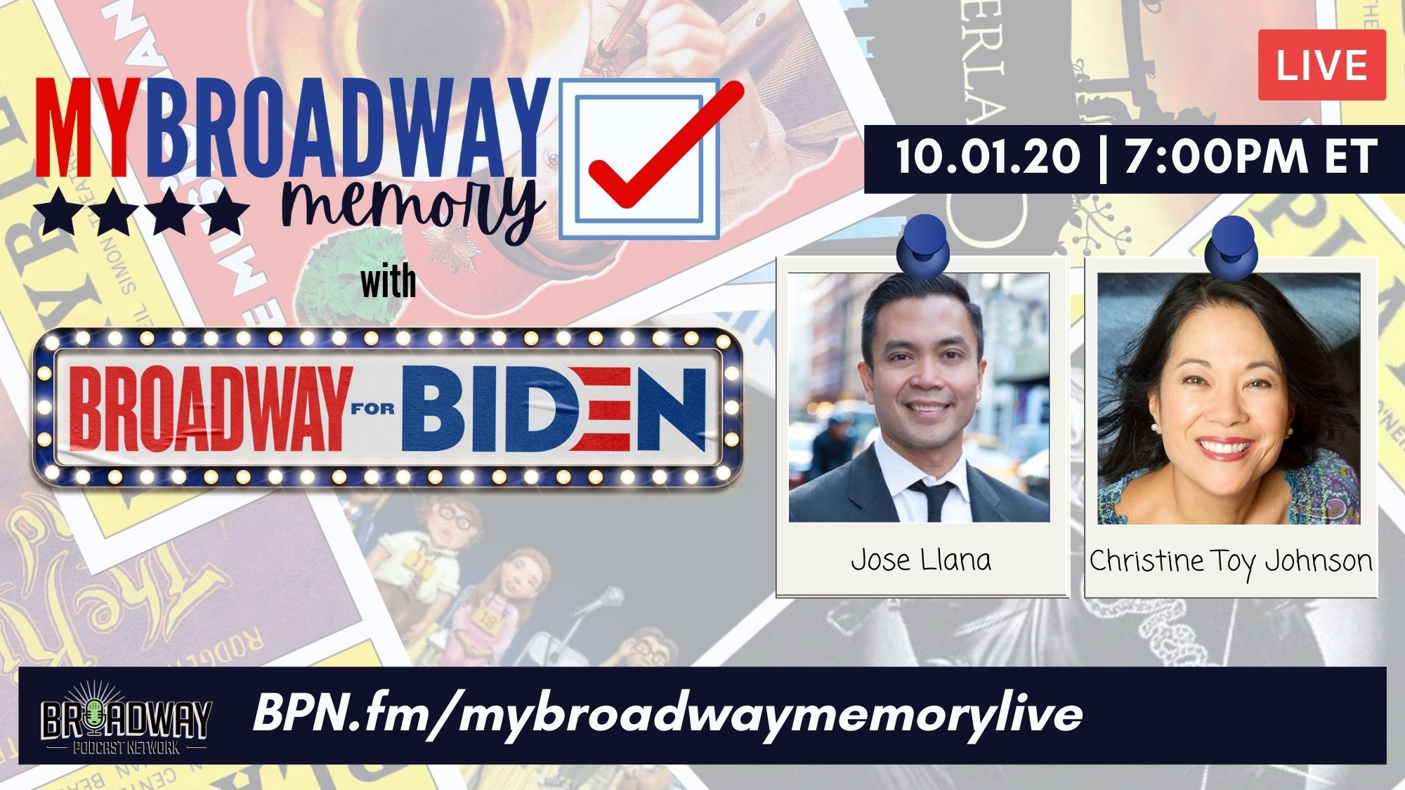 News Item: My Broadway Memory unites with Broadway for Biden