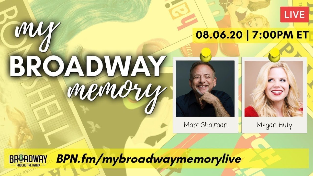 Playbill.com: Megan Hilty and Marc Shaiman Reunite Virtually August 6 to Talk Smash, Broadway, and More