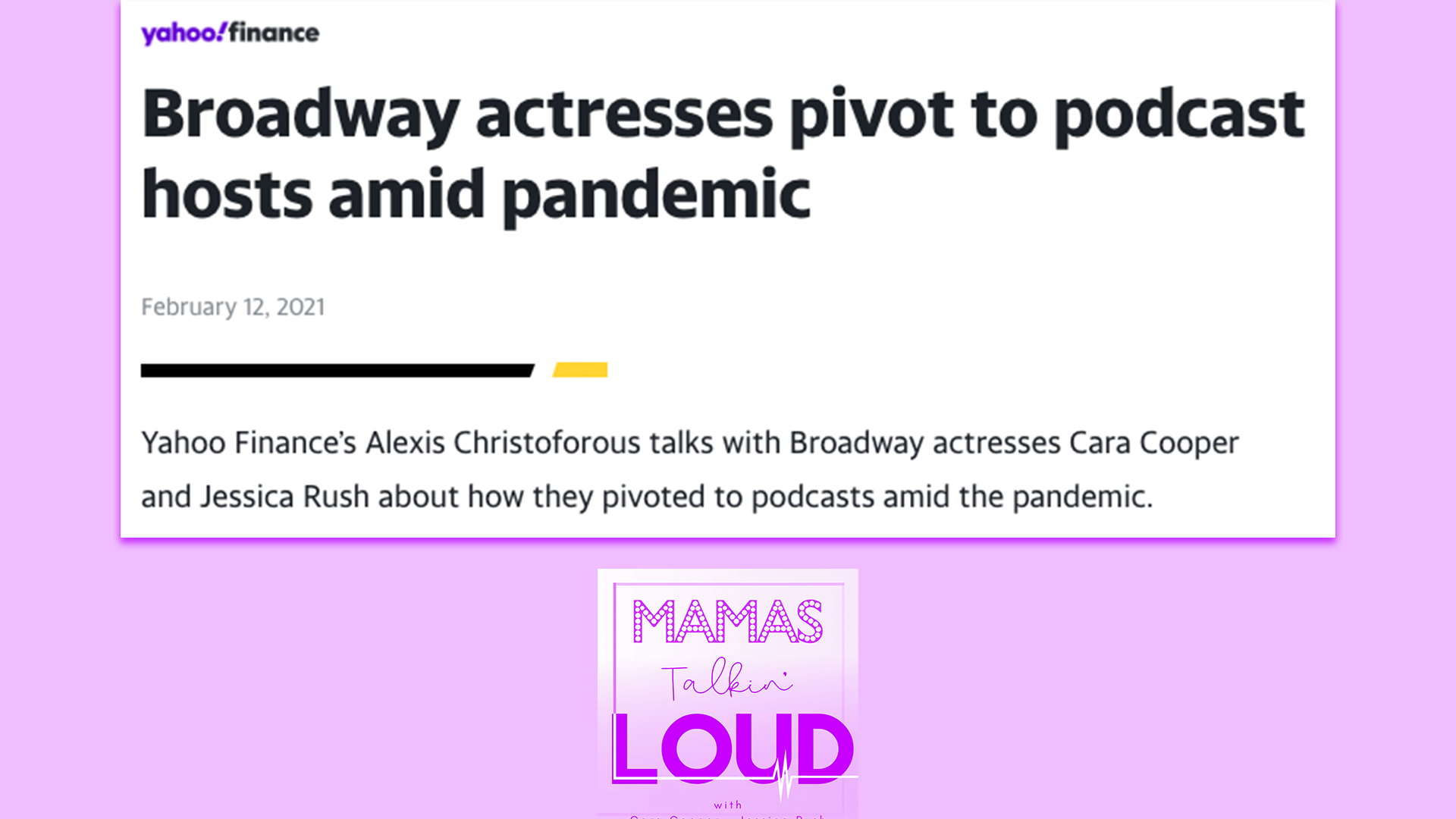 Broadway actresses pivot to podcast hosts amid pandemic