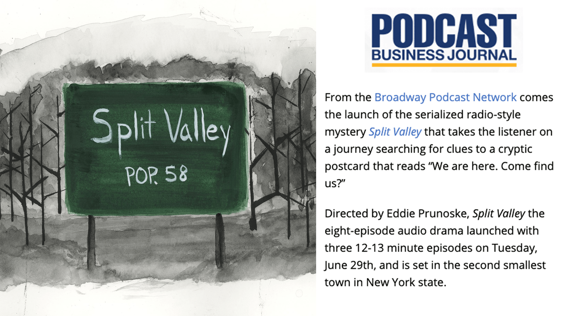 Split Valley's Launch Covered by the Podcast Business Journal